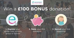 COMPETITION TIME: Raise your Game with easyfundraising and you could win a £100 BONUS donation!