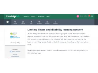 Limiting illness and disability learning network