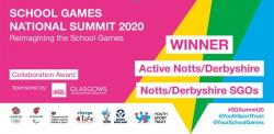 National Award for School Games collaboration work in Notts and Derbyshire