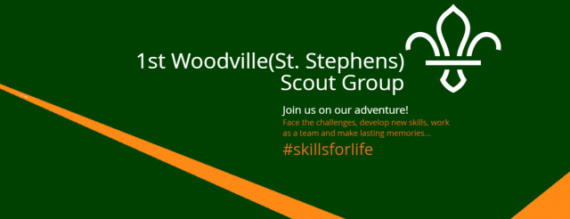 1st Woodville (St .Stephens) Scouts Banner
